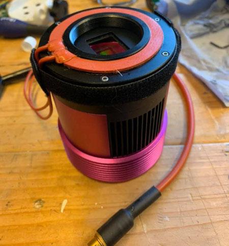 Customer Dew Heater Installation Example on Altair TEC Camera