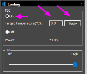 Support - Switch ON TEC Cooling